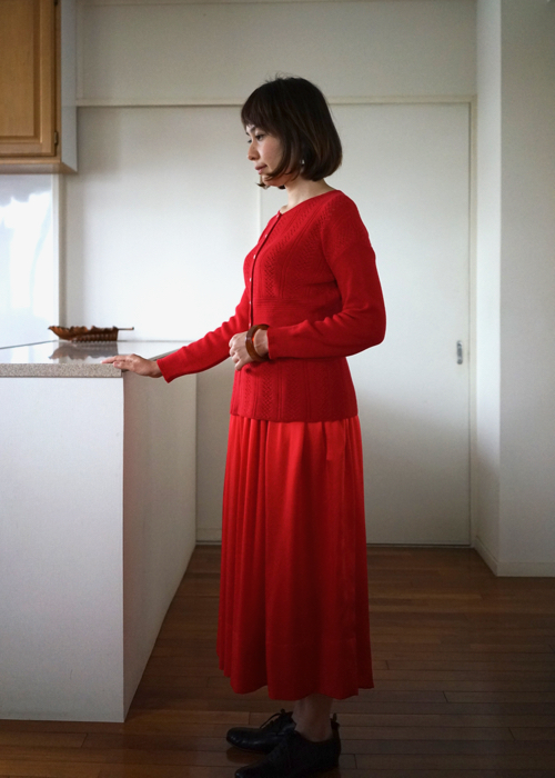 humoresque silk gather skirt 通販 Shoka: