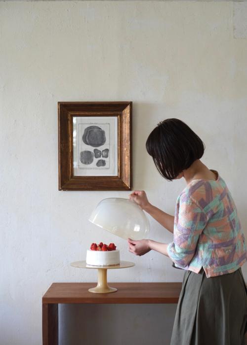 辻和美 factory zoomer ファクトリーズーマ ガラス ケーキドーム Shoka: