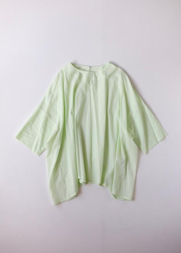Short sleeve tent line blouse