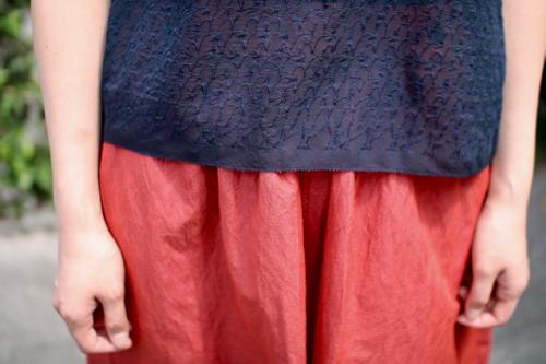 ミナ ペルホネン lintu ノースリーブブラウス -2color- 通販 mina perhonen