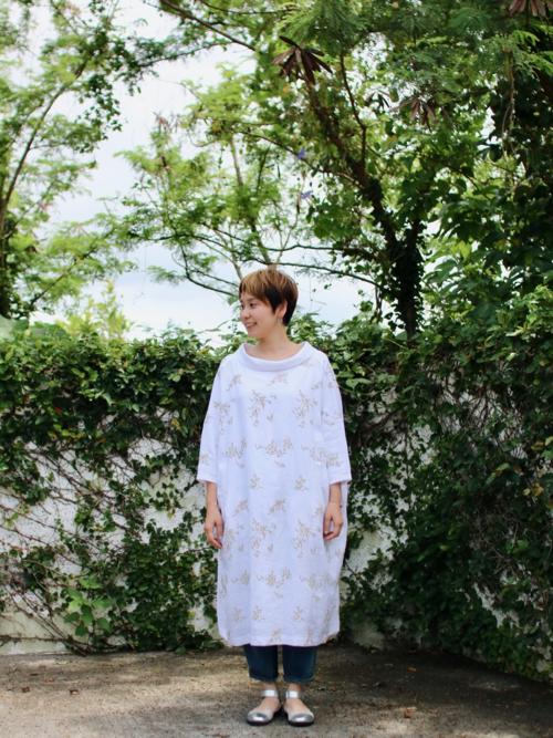 ミナ ペルホネン senko-hanabi ドレス  mina perhonen 通販  リネン
