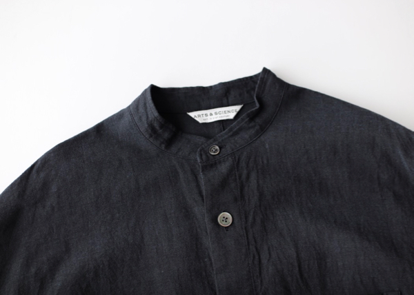 Stand collar relax fit shirt