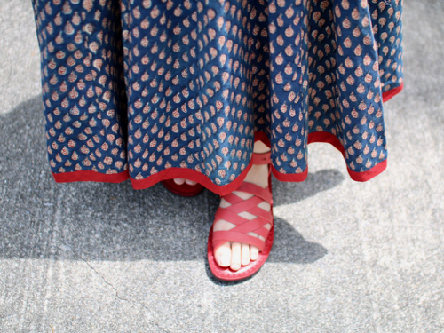 trippen Nepal -red-( lht-waw)レザーサンダル サンダル