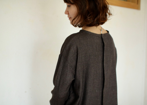 plain blouse - brown -