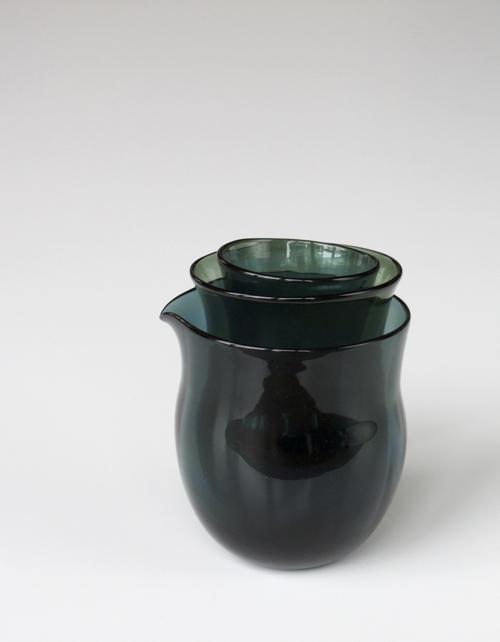 マトリョーショカグラス 3個セット (青灰色)