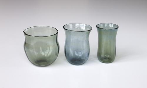 マトリョーショカグラス (灰緑色)