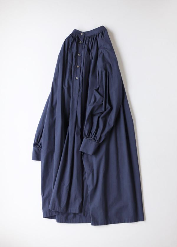 Button front gather blouse