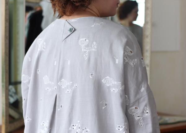 ミナ ペルホネン crystal flower クルーネックドレス