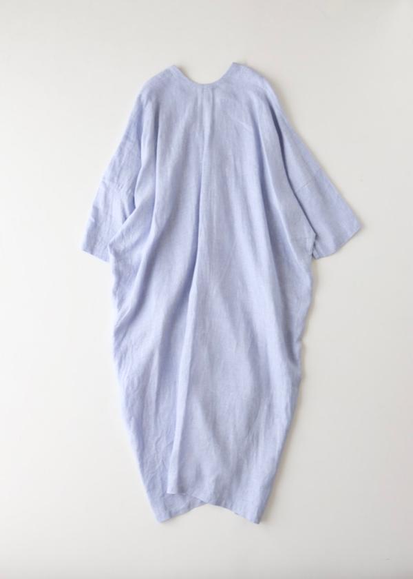 Side slit V neck long dress
