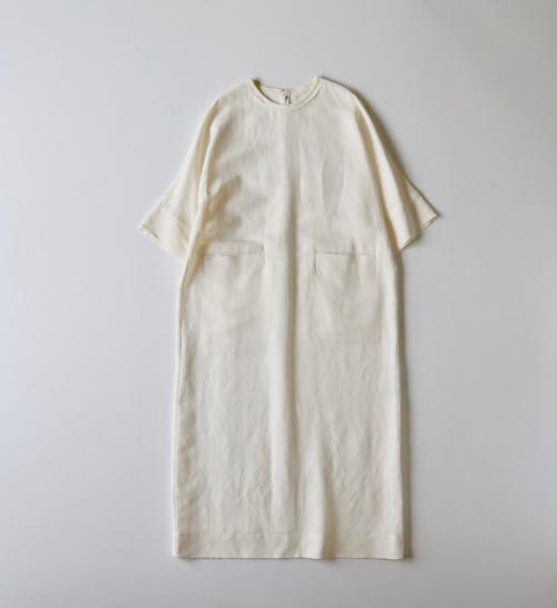 humoresque Plain dress  ユーモレスク 通販  Shoka: ワンピース white natural