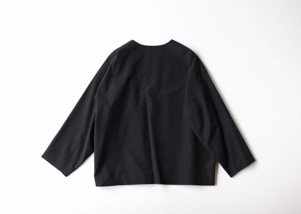 No collar boxy jacket2