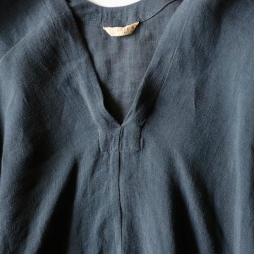 ARTS&SCIENCE  Back long blouse アーツ 通販 トップス ブラウス Shoka: 藍染