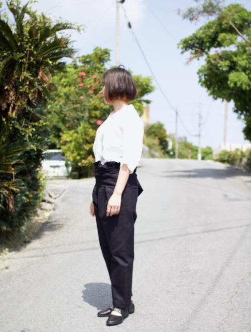 TOUJOURS  Thai Style Narrow Pants Black Navy