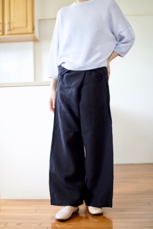 TOUJOURS  Thai Style Wide Pants -Black-