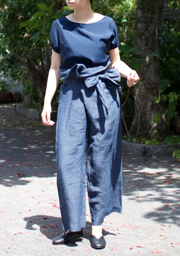TOUJOURS    Thai Style Wide Pants   -Indigo Blue-