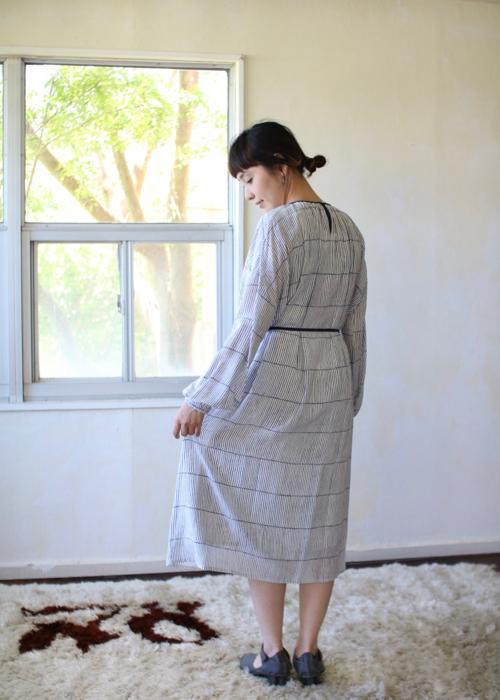 ミナ ペルホネン misty line ドレス-white-