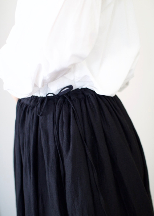 humoresque long gather skirt