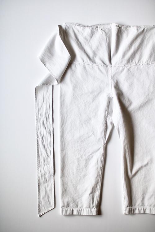 TOUJOURS  Thai Style Narrow Pants -Smoke White-