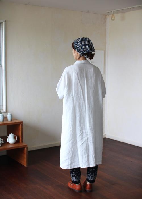 YAMMA  胸タックワンピース リネン Shoka: 通販