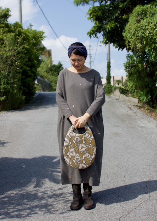 ミナ ペルホネン egg bag -jardin-