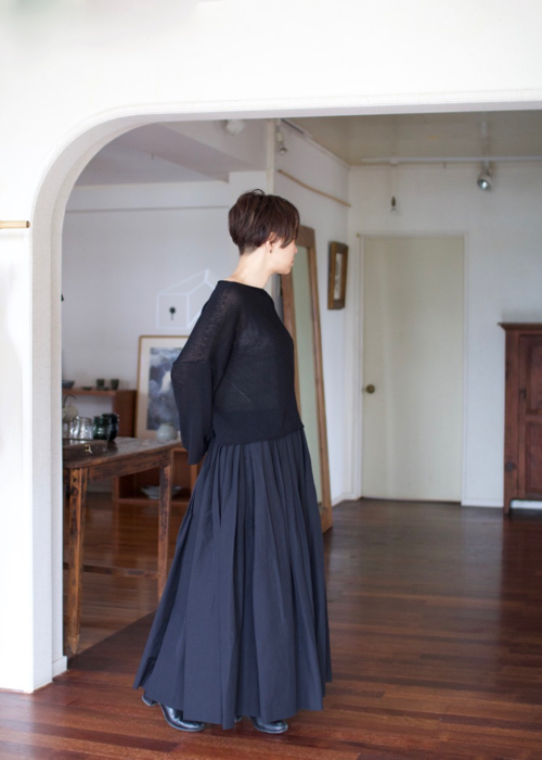 humoresque boat neck knit Shoka: 通販