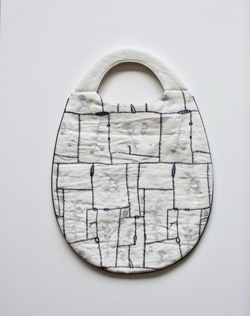 ミナ ペルホネン egg bag -garden patchwork-
