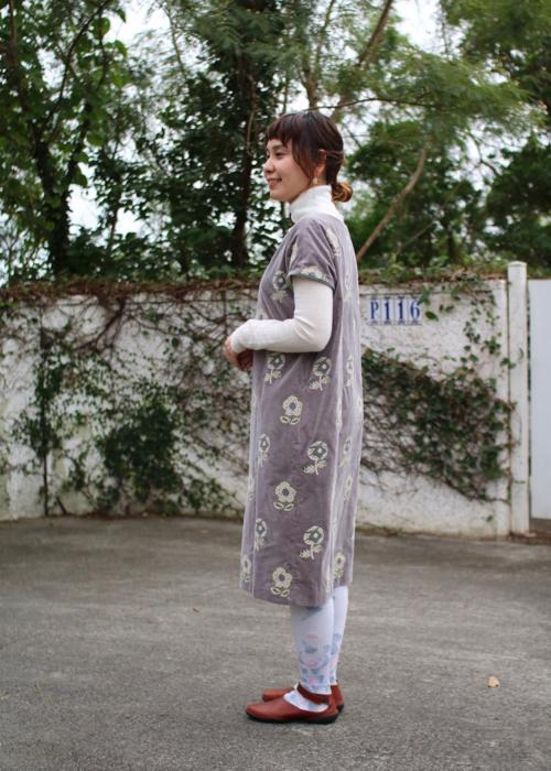 ミナ ペルホネン chum ドレス gray