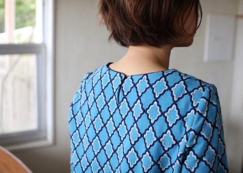 ミナペルホネン miroir ブラウス blue
