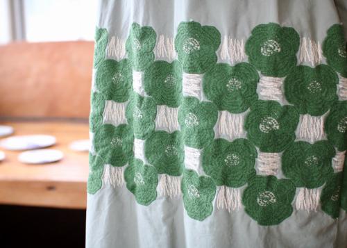 ミナペルホネン ランドリー Rosas ドレス green
