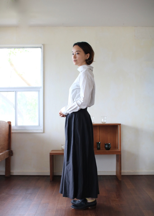 humoresque mix tuck skirt