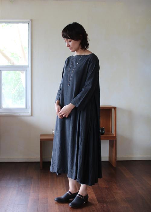 TOUJOURS Side pleated dress Shoka: 通販