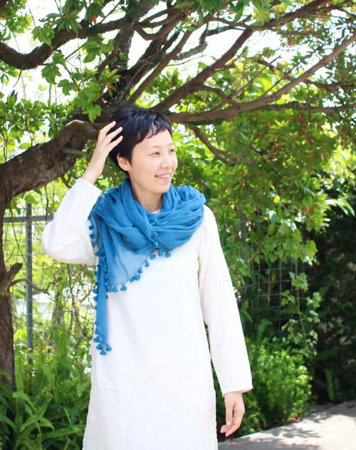 インド インディゴ 藍 CALICO カディ Shoka: MAKU TEXILES 小林史恵