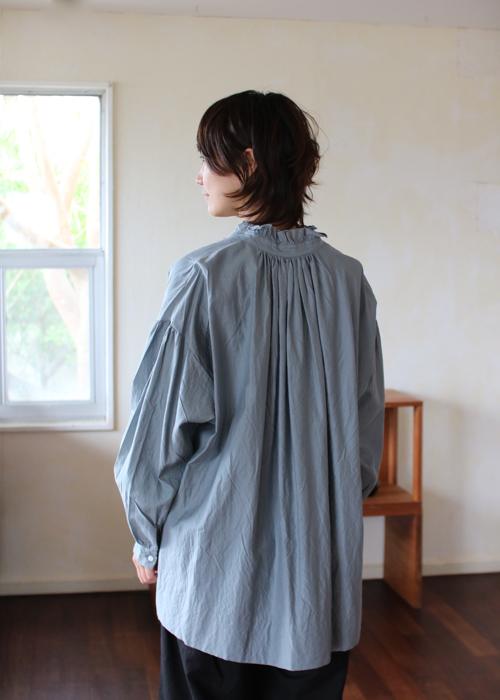 TOUJOURS   Frill collar surplice shirt Shoka: 通販
