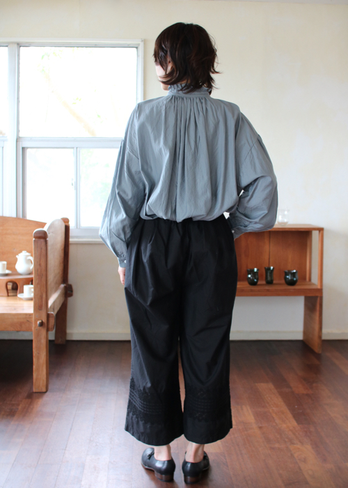 TOUJOURS  Pleated underwear baggy pants Shoka: 通販