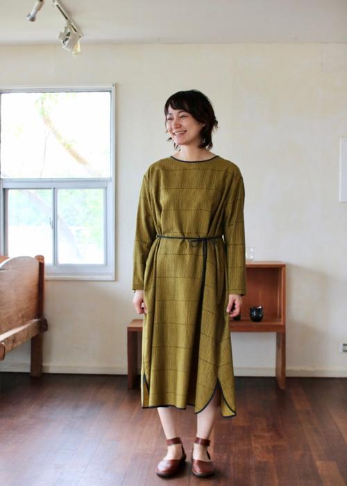 ミナ ペルホネン misty line ドレス khaki