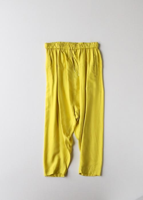 String gather yoke pants