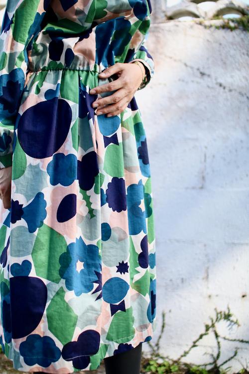 ミナ ペルホネン flower basket  ドレス   ワンピース 花 花かご Shoka: