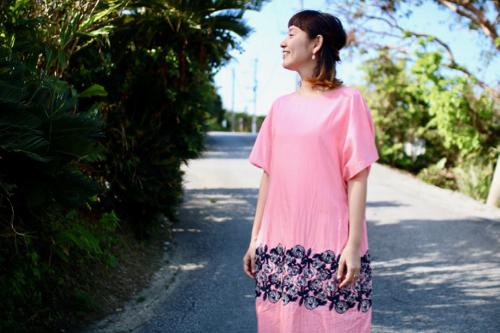 ミナ ペルホネン rosy ドレス  pink シルク silk ワンピース