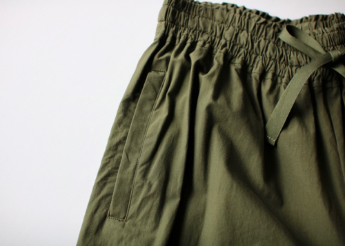 Front string wide pants