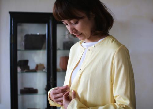 humoresque coat dress - lemon - Shoka: 通販