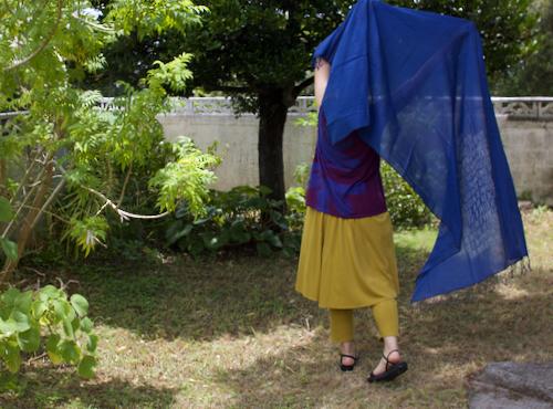 ヨーガン レール メッセージ刺繍スカーフ