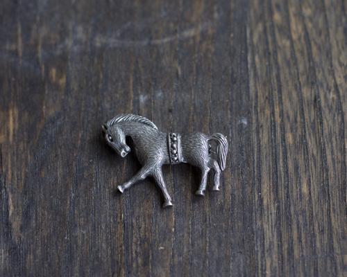 """アンティーク シルバー ブローチ """"donkey(ロバ)"""""""