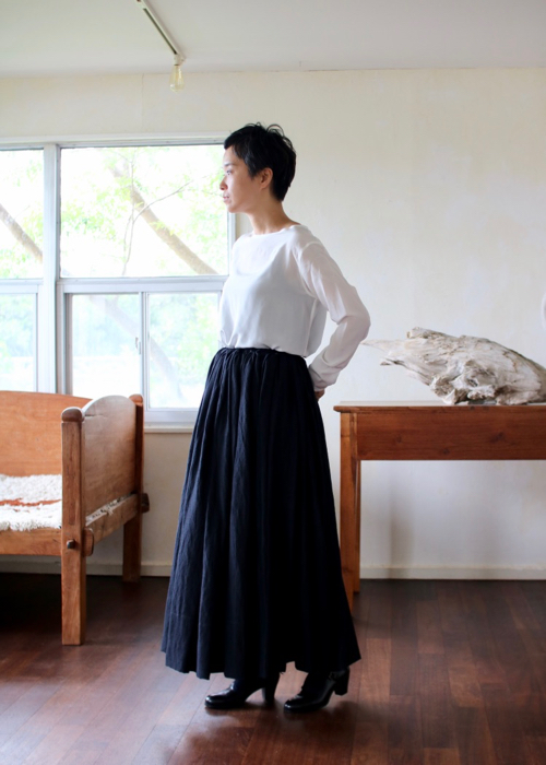 long gather skirt