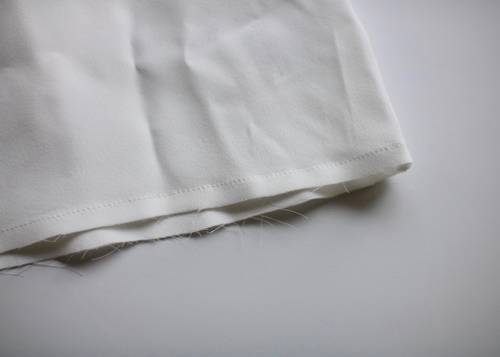 plain blouse silk - white -