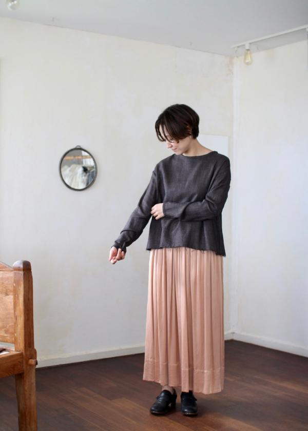 plain blouse - brown -