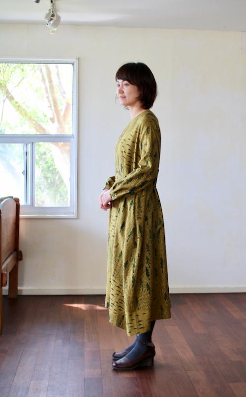 ミナ ペルホネン one day ドレス -khaki-
