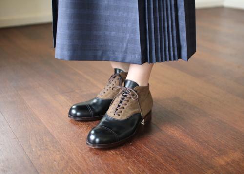 humoresque box pleated skirt Shoka: