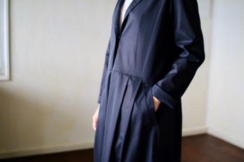 humoresque Open collar dress  - navy -