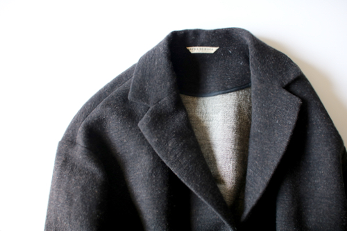 wool linen tweed double weft