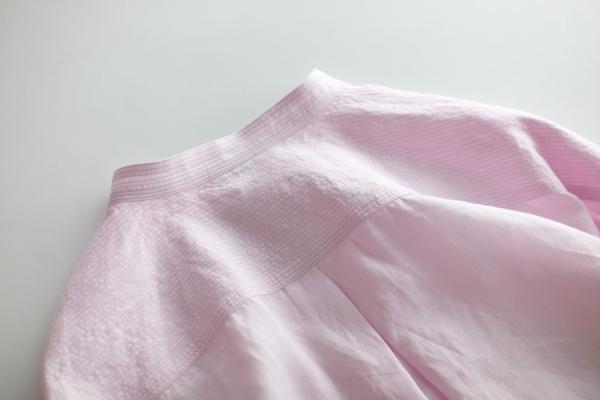Stitched yoke shirt pink